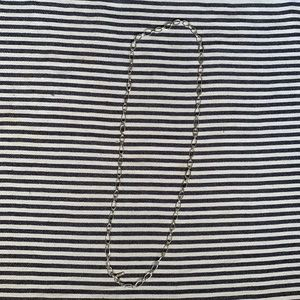 "Nine West 42"" long silver hoop necklace"